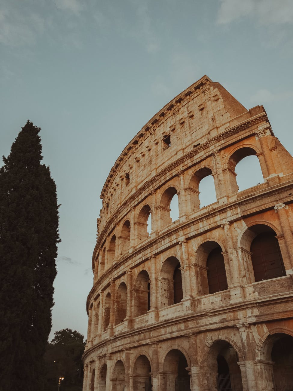 low angle photo of colloseum